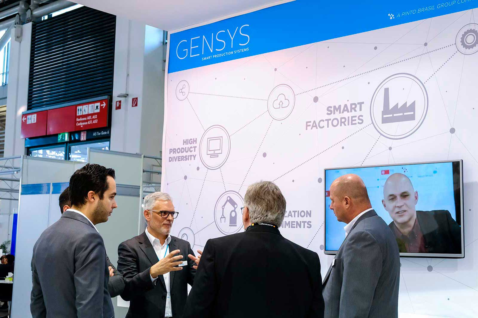 Pinto Brasil e GenSYS<br>participaram na<br>Productronica 2019