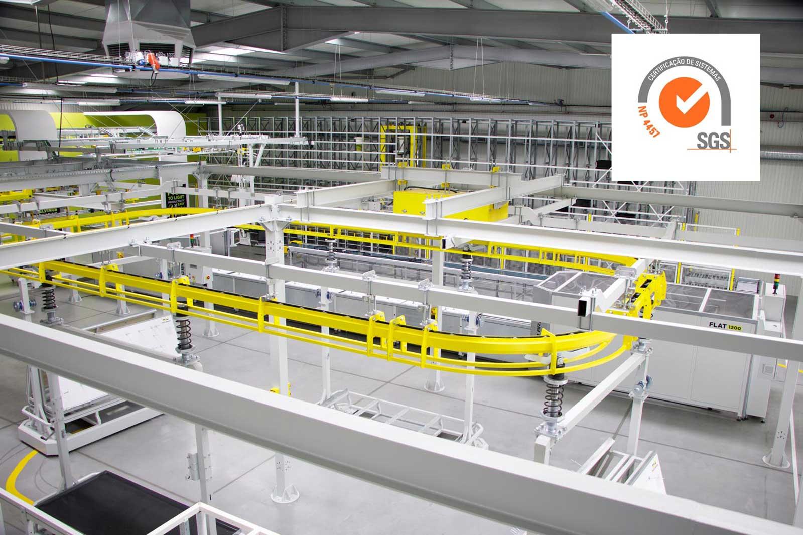 Entidade SGS<br> certifica a inovação<br> da Pinto Brasil